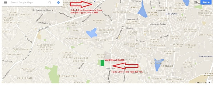 vaishnavi-oasis-location-map
