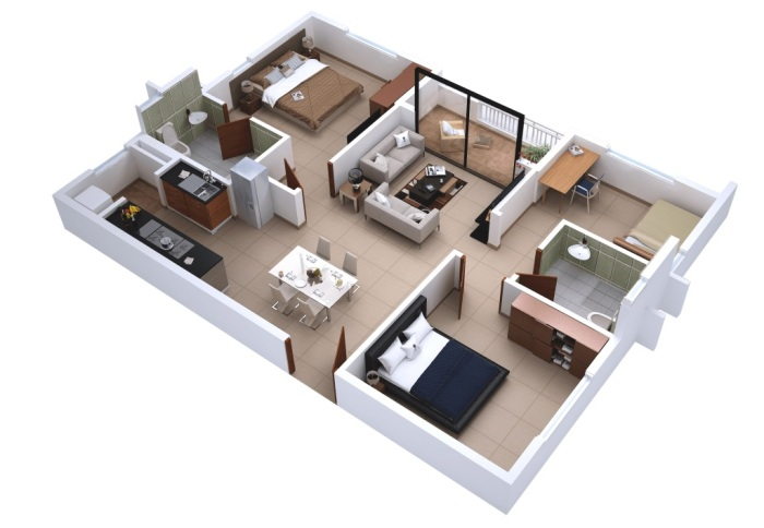 provident-kenworth-3-bhk-1040-sqft