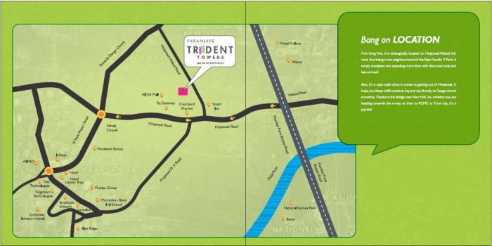 paranjape-trident-location-map